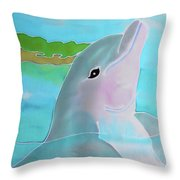 Dolphin Smile Throw Pillow
