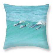 Dolphin Team Throw Pillow