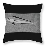 Dolphinfish In Grayscale Throw Pillow