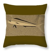 Dolphinfish In Sepia Tones Throw Pillow