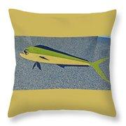 Dolphinfish Inlay On Alabama Welcome Center Floor Throw Pillow