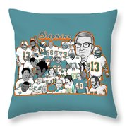 Dolphins Ring Of Honor Throw Pillow