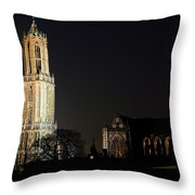 Dom Tower And Dom Church In Utrecht In The Evening 2 Throw Pillow