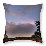 Dome And Clouds - Guatemala Iv Throw Pillow