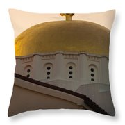 Dome And Cross At St Sophia Throw Pillow