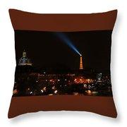 Dome Eiffel Tower Paris France Throw Pillow