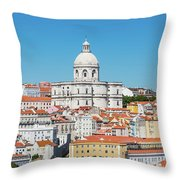 Dome Of Gothic Church In Lisbon Throw Pillow