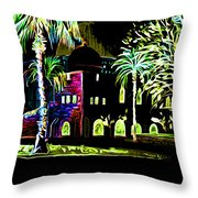 Dome Of The Rock At Night Throw Pillow