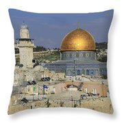 Dome Of The Rock Jerusalem Israel Throw Pillow