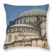 Domes Of Suleymaniye Mosque Throw Pillow