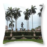 Dominating The Courtyard Throw Pillow