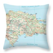 Dominican Republic 2 Throw Pillow