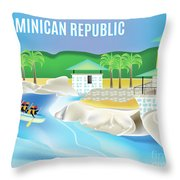 Dominican Republic Horizontal Scene Throw Pillow