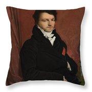 Dominique Ingres   Monsieur De Norvins Throw Pillow