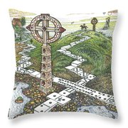 Domino Crosses Throw Pillow