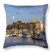Domino Sugars Sign Throw Pillow