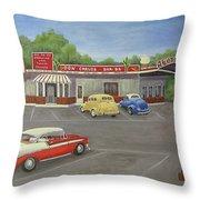 Don Carlos Drive Inn Throw Pillow