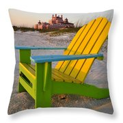 Don Cesar And Beach Chair Throw Pillow