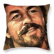 Don Johnson Throw Pillow