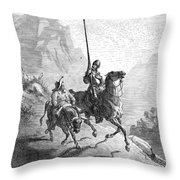 Don Quixote And Sancho Throw Pillow by Granger