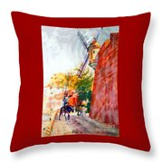 Don Quixote In San Juan Throw Pillow by Estela Robles