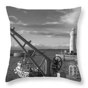 Donaghadee Fishing Wharf Throw Pillow