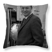 Donald Glaser, American Physicist Throw Pillow