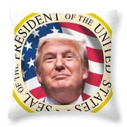 Donald Trump Us President United States Seal  Throw Pillow