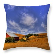 Done With Harvest Throw Pillow