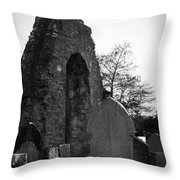 Donegal Abbey Ruins Donegal Ireland Throw Pillow