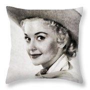 Donna Douglas, Vintage Actress By John Springfield Throw Pillow