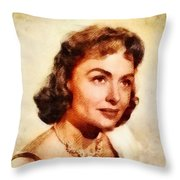 Donna Reed, Vintage Hollywood Actress Throw Pillow