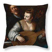 Donna Venusta Throw Pillow