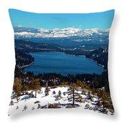 Donner Lake Sierra Nevadas Throw Pillow
