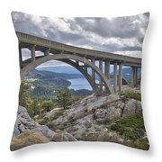 Donner Memorial Bridge Throw Pillow