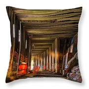 Donner Snow Sheds 8 - Ghosting Throw Pillow by Jim Thompson