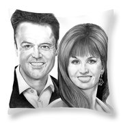 Donnie And Marie Osmond Throw Pillow