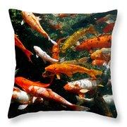 Don't Be Koi Roy Throw Pillow