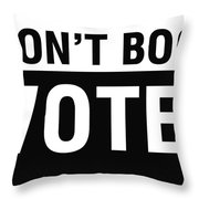 Don't Boo Vote- Art By Linda Woods Throw Pillow