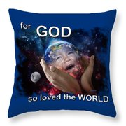 Don't Cry Little Earth Throw Pillow
