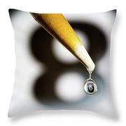 Don't Fall Behind The Eight Ball Throw Pillow