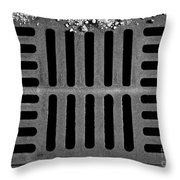 Don't Forget The Drains Bw Throw Pillow