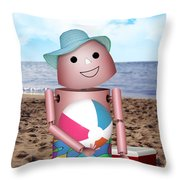 Don't Forget The Sunscreen Throw Pillow