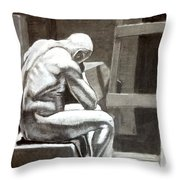Don't Get Down On Yourself Throw Pillow