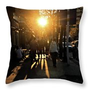 Dont Go Into The Light Throw Pillow