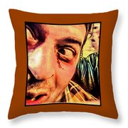 Don't Look Behind You Throw Pillow