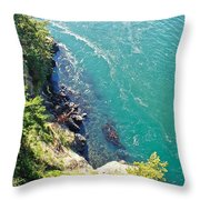 Don't Look Down 2 Throw Pillow