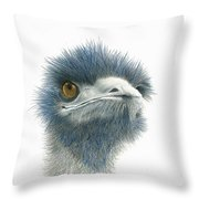 Dont Mess With Emu Throw Pillow