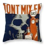 Don't Mix Throw Pillow