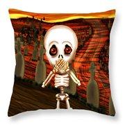 Don't Scream Throw Pillow